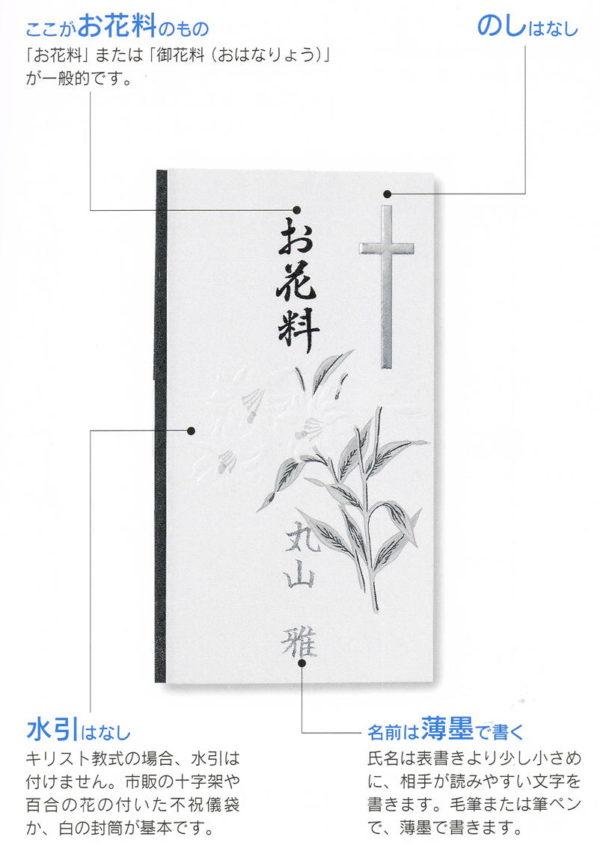 香典袋の書き方:キリスト教式